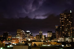 Thunderstorm in Austin Texas Stock Photography