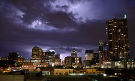 Thunderstorm in Austin Texas Royalty Free Stock Photos