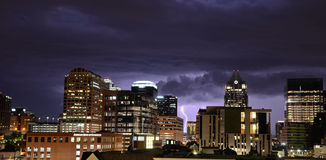 Thunderstorm in Austin Texas Stock Photo
