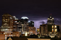 Thunderstorm in Austin Texas Stock Images