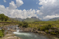 Thunderstorm buildt-up. Drakensberg, South Africa Stock Photos