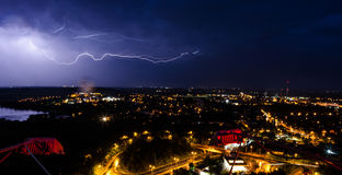 Thunderstorm in the city Stock Image