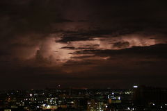 Thunderstorm on a city life Royalty Free Stock Image