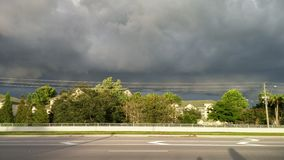 Thunderstorm cloud. Black Thunderstorm cloud: taken in Tampa Bay Stock Photo