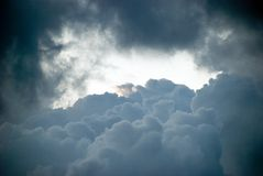 Thunderstorm clouds. royalty free stock images