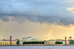 Thunderstorm clouds over St. Petersburg Royalty Free Stock Image