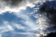 Thunderstorm clouds Royalty Free Stock Photos