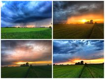 thunderstorm collage Royalty Free Stock Photos