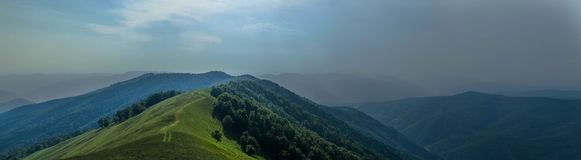 Thunderstorm is coming panoram. Before the Storm view of carpathian mountains Ukraine stock photography