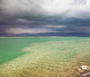 The thunderstorm at the Dead Sea Royalty Free Stock Photos