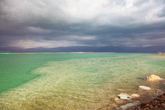 A thunderstorm at the Dead Sea Stock Photos