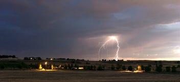 Thunderstorm Edge Late Afternoon Storm Lightning Strike Idaho Co Stock Photos