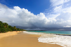 Before the thunderstorm on an exotic beach Royalty Free Stock Photography