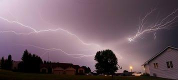 thunderstorm för blixtslag Arkivbild