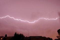 thunderstorm för bultlantgårdblixt Royaltyfria Bilder