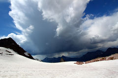 Thunderstorm Glacier National Park Royalty Free Stock Photography