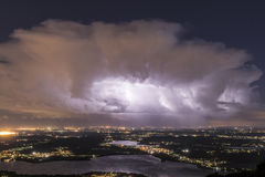Thunderstorm at the horizon Royalty Free Stock Photography