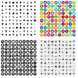 100 thunderstorm icons set vector variant. 100 thunderstorm icons set vector in 4 variant for any web design isolated on white Stock Photos