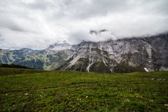 Thunderstorm in Karwendel mountain, germany Royalty Free Stock Photos