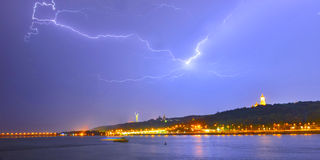 Thunderstorm in Kiev Royalty Free Stock Photo