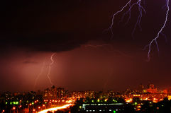 Thunderstorm with lightning Royalty Free Stock Photos