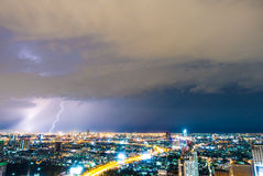 Thunderstorm lightning Stock Photography