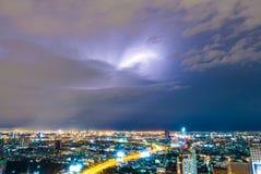 Thunderstorm lightning Royalty Free Stock Photos