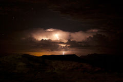 Thunderstorm with lightning Stock Image