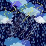 thunderstorm motiv 1950s-1960s Retro textilsamling Arkivfoton