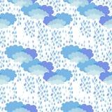 thunderstorm motiv 1950s-1960s Retro textilsamling Arkivbilder