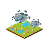 Thunderstorm. Natural Disaster Icon. Vector Illustration Royalty Free Stock Photography