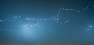 Thunderstorm at Night Stock Images