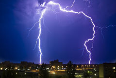 Thunderstorm at Night Royalty Free Stock Images