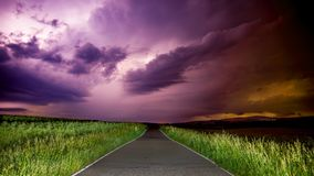 Thunderstorm at Night Royalty Free Stock Photography