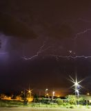 Thunderstorm at night time. In the Sonoran desert Royalty Free Stock Images