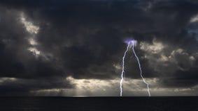 Thunderstorm over the Black Sea Stock Photo