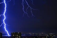 Thunderstorm over Copenhagen a summerday royalty free stock photography