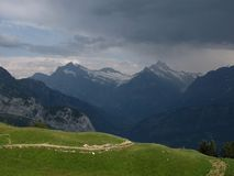 Thunderstorm Over Grindelwald Stock Photos