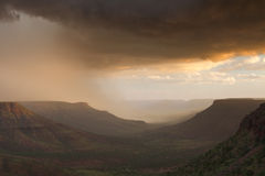 Thunderstorm over the Grootberg plateau Royalty Free Stock Photography