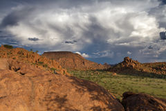Thunderstorm over the hills of Damaraland Royalty Free Stock Photos