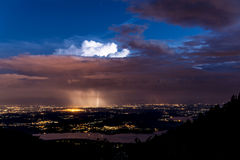 Thunderstorm over plain of Varese Royalty Free Stock Photo