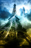 Thunderstorm in Paris Royalty Free Stock Images