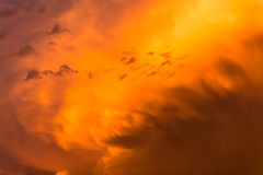 Thunderstorm Rain Clouds Color Royalty Free Stock Photography