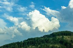 Thunderstorm Rain Clouds Countryside Royalty Free Stock Image