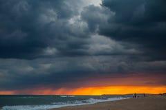 Thunderstorm on the saeside stock image