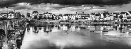 Thunderstorm in Saumur Stock Image