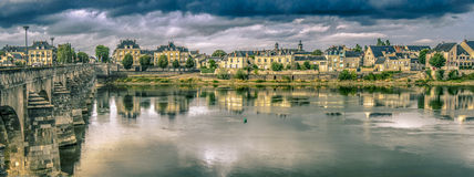 Thunderstorm in Saumur Royalty Free Stock Images