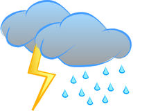 Thunderstorm sign Royalty Free Stock Photos