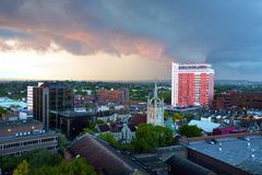 Before thunderstorm in South London - Sutton, Surrey Stock Photos