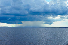 Thunderstorm in tampa bay Royalty Free Stock Photos